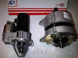 Convient Ford Capri & Sierra 1.6 2.0 Ohc Pinto New Starter Motor + 55amp Alternateur