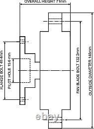 Dayco Fan Clutch Pour Ford Corsair 11/1989-12/1992 2.0l 4cyl 8v Ohc Mpfi Ua Ca20