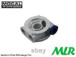 Ford Escort Mk1 Mk2 Capri Ohc Pinto Mocal 5/8bsp Refroidisseur D'huile Kit De Montage Zo5-3/4