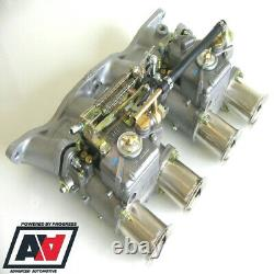 Ford Pinto 1.6 1.8 2.0 Ohc Inlet Collecteur & Twin Weber 45 Dcoe Carburettors Adv