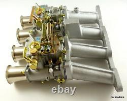Weber Twin 45 Dcoe Carburettor Kit Ford Cortina 2.0 Ohc Pinto Prêt Assemblé