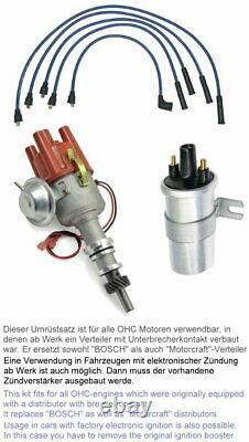 Zündverteiler Ohc 1,6-2,0l Umrüstsatz Auf Kontaktlose Zündung Ford Transit Mk2